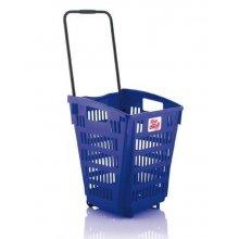 Cesta de la Compra Color Azul de 52 Litros ARAVEN 3229 (1 ud)