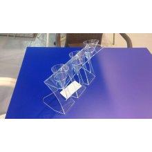 Expositor 3 Conos Helado Metacrilato Transparente 4mm 24x7x15.5cm 0552.TRANSP Alexalo (1 ud)