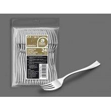 Bolsa de 50 Tenedores de Degustación color Plata 10 Cm 10063 (1 ud)