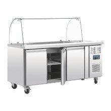 Mostrador frigorífico de preparación GN de 3 puertas con pantalla CT394 POLAR