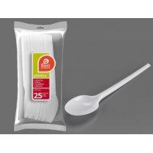 Bolsa de 25 Cucharas Grandes color Blanco de 16,50 Cm 245600 (1 ud)