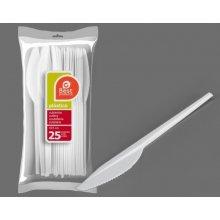 Bolsa de 25 Cuchillos Grandes color Blanco de 16,50 Cm 245800 (1 ud)
