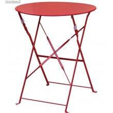 Mesa bistro redonda para terraza acero roja GH560 BOLERO