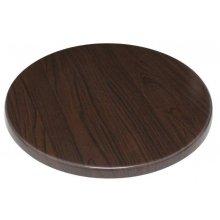 Tablero de mesa redondo 60cm marrón oscuro GG643 BOLERO