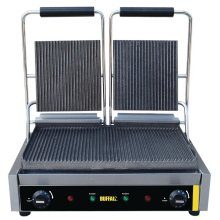Grill de contacto doble placas estriadas DM902 BUFFALO