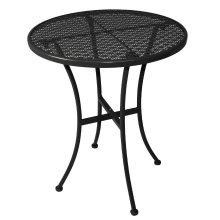 Mesa bistro redonda para terraza 60cm acero negra GG705 Bolero