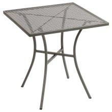 Mesa bistro cuadrada para terraza 70cm acero gris GG704 Bolero