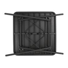 Mesa de acero lamas 700 x 700mm color negro CS731 Bolero