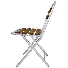 Silla plegable aluminio y madera fresno GL980 Bolero (Juego 4)