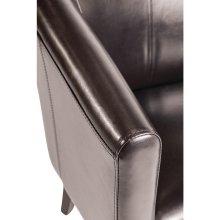 Sillón Tub símil piel (marrón oscuro) CE593 Bolero