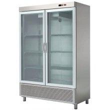 Armario Snack Refrigerado 2 Puertas de Cristal Fondo 726 de 1388 x726 x2067h mm ARCH-1202V