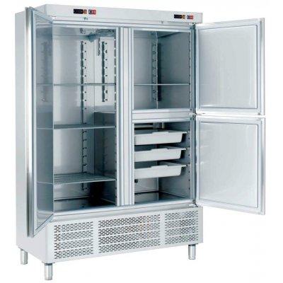 Armario Snack Refrigerado con Departamento de Pescado 2 medias puertas ARCH-1203-DP