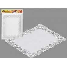 Pack de 8 blondas rectangular blanca 32x26cm 356300 Best Product (1 Pack)