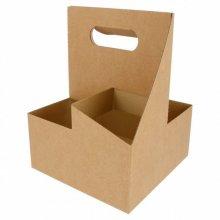 Pack 20 Portavasos 4 vasos 18x18x24cm natural Kraft 216.74 GDP (1 Pack)