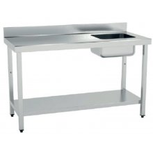 Mesa de Trabajo Acero Inoxidable CON Cubeta CON Estante de 1500 x700 x850h mm MCIC715