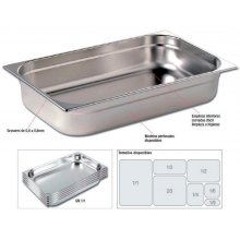Cubetas Gastronorm Acero Inoxidable de GN1/1-20mm GNCH1