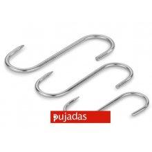 Pack de 10 Ganchos de Acero Inoxidable de 16 cm 958016 PUJADAS (1 pack)