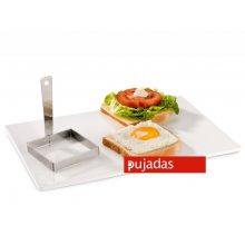 Molde para Emplatar Huevos Fritos Cuadrado de Acero Inoxidable PUJADAS 871000 (1 ud)