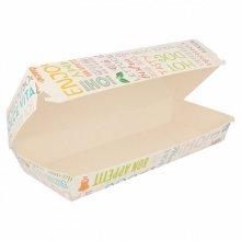 "Pack de 50 Cajas Panini ""Parole"" de 26x12x7cm Blanco decorado 219.96 Garcia de Pou (Pack 50 uds)"
