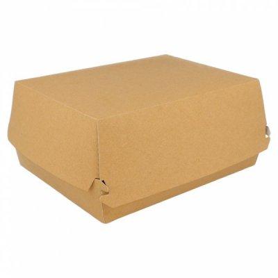 Pack de 50 Cajas Fast food de de 22'5x18x9cm Lunch box Marrón 220.06 Garcia de Pou (Pack 50 uds)