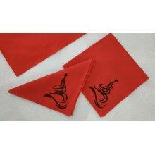 Paquete 50 Servilletas Air Laid Rojo de 40x40cm diseño árbol de Navidad Negro AD40XÑ (1 ud)
