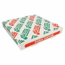 Pack 100 Cajas de Pizza Microcanal de 26x26x3.5cm cartón 148.27 GDP (1 pack)