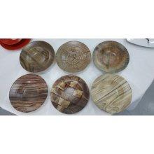 "Caja Surtida de 12 Platos de Pasta Redondo de 28x6cm ""HERMES"" diferentes diseños B981001A VIEJO VALLE (1 caja)"