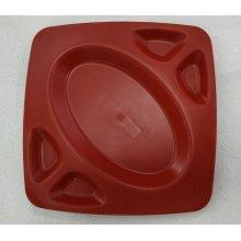 Platos 4 Salsas color Rojo de 23x23x2cm 0115 FERVIK (Pack 4 uds)