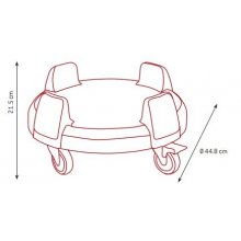 Carro Ajustable para contenedores redondos RC-2092-BLA dbMark (1 ud)