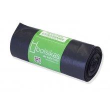 Rollo de Bolsas de basura de 90x115cm negra industrial BBA106 Dicaproduct (1 rollo)