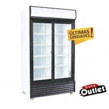 Armario Expositor Refrigerado 1000 litros 2 Puertas Correderas de Vidrio de 1130 x730 x2030h mm CSD1000S-OUT-20 (OUTLET)