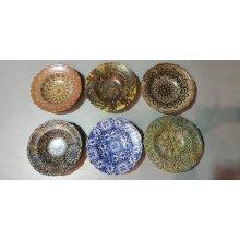 """Caja Surtida de 12 Platos de Pasta Redondo de 28x6cm """"ZEUS"""" 6 diseños diferentes B981002C VIEJO VALLE (Caja 12 uds)"""