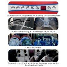 Lavavajillas Industrial Tipo Capota con Cesta de 50x50 con Control Electrónico Digital Táctil CH1000B-D