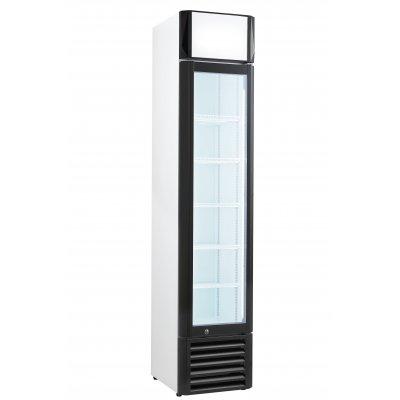 Armario Expositor Refrigerado con puerta de vídrio Slim line de 390x480x1880mm CSL-160