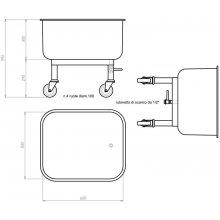 Carro para lavado CPL-65 EDENOX