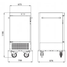 Carro refrigerado de 7 bandejas GN2/1 CF-10 EDENOX