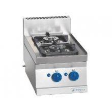 Cocina a gas 2 fuegos 2x4,1Kw Snack 650 SCG-40 E EDENOX