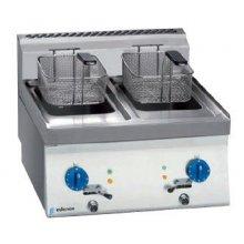 Freidora eléctrica 8+8 litros trifásica de 6+6Kw Snack 650 SFE-60 E EDENOX