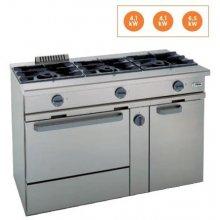 Cocina a gas 3 fuegos con horno a gas Snack 550 TCGH-127 EDENOX