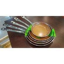 Sartén Cerámica cobre 3mm con inducción mango inox nº24cm BI1706073 VIEIRA (1 ud)