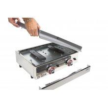 Plancha a gas Profesional en acero laminado de 6 mm con medidas 810x457x240h mm 80PGL