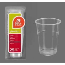 Caja de 40 paquetes de 25 Vasos de Plastico Transparente Irrompible de 500cc 249400C BEST PRODUCT (1 caja) (OUTLET)