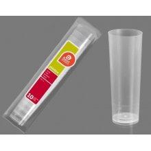 Caja de 50 paquetes de 10 Vasos de Tubo plastico Transparente de 300cc 250700C BEST PRODUCT (1 caja) (OUTLET)