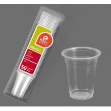 Caja de 96 paquetes de 50 vasos de plástico transparente Irrompible de 100cc 247800C BEST PRODUCT (1 caja) (OUTLET)