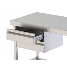 Módulo De Cajones de Acero Inoxidable Con Guías Telescópicas 460x450x150h mm