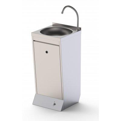 Lavamanos de Pie en Acero Inoxidable Con Pulsador 400x400x850h mm
