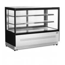 Vitrina Refrigerada Ventilada Total Cristal Recto con 3 estantes de cristal LPD1500F-P/BLACK