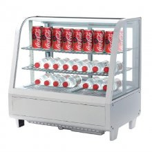 Vitrina Expositora Refrigerada Blanca 4 caras Sobremostrador XCW100L-B