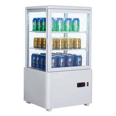 Armario Expositor Refrigerado 4 caras Sobremostrador Blanco 58 L XC58L-B