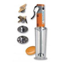 Batidora Dynamic Dynashake MX054 220W con kit de 4 cuchillas + contenedor hermético de 1 litro CF258 Nisbets (1 ud)
